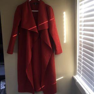 Shawl collar midi jacket